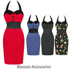 RKH3 Hearts & Roses 50s Vintage Pinup Pencil Fitted Wiggle Work Party Dress