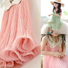 Cute Baby Girls Party Dress Princess Chiffon Tutu Pink Kids Age 3-8Y Sundress