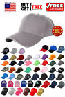 Men Women New Plain Solid Color Baseball Cap Curved Visor Hat Adjustable Size