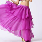 ORCHID | Women Lady Hot Spiral Skirts 3 Layer Circle Belly Dance Costume Boho