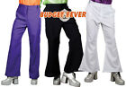 1970S Disco Flares Men's 70s Fancy Dress Seventies Flared Trousers Adult Costume