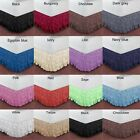 1000TC MULTI RUFFLED SOLID BED SKIRT 100% EGYPTIAN COTTON CHOOSE SIZE,COLOR,DROP