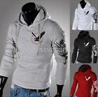 Mens Sexy Slim Fit Top Designed Hooded Hoodies Jackets Coats Tops M2175 FUS