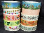 Animal Cat Birds Forg Pattern WASHI tape sticker Decorative Paper Tape L5m
