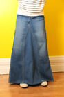 Childrens Place and Old Navy Long Denim Skirt Converted Jeans Sizes  8-14