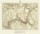 Topographical Map - Northern Arizona, Southern Utah Geographical 1873 - 23 x 26