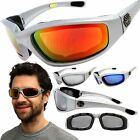 Chopper Wind Resistant Silver Sunglasses Extreme Sport Motorcycle Riding Glasses