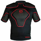 OPTIMUM Origin Rugby Body Protection Shoulder Pads - Black / Red