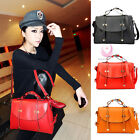 New Women Double Arrow Totes Handbag Messenger Leather Candy Shoulder School Bag
