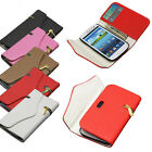 Zipper PU Leather Flip Wallet Case Cover For Samsung Galaxy S4 i9500 S3 i9300
