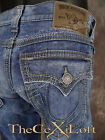 NWT Mens TRUE RELIGION Jeans RICKY BIG QT BAHM ROAD BLUES M24859GY4 $328 Retail!