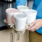 4 Cup Carriers Takeaway Paper Cardboard Tray Holder Hot & Cold Drink Cafe 81C060
