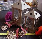 Shabby Chic Hanging Lantern/tealight holder available in 2 size's