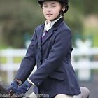 """Shires Childs Cotswold Riding Show Jacket - Navy Or Black - Sizes 24"""" - 34"""""""