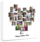Heart Collage Canvas Family Tree Personalised Montage