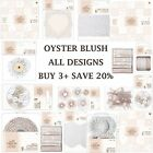 OYSTER BLUSH Papermania Capsule Collection Full Range Papers + Embellishments