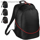 Quadra Team wear Pro Backpack Sports Travel Rucksack Bag, Black with Colour Trim