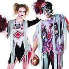 Zombie Footballer Cheerleader Sports Halloween Horror Fancy Dress Adult Costume