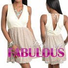 WOMENS V NECK DRESSES Size 8 10 12 14 SEXY PARTY EVENING FORMAL CLUBBING S M L