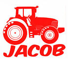 Personalised Tractor Add Your Own Name Vinyl Wall Art Boys/Girls Bedroom Sticker