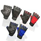 WEIGHT LIFTING PADDED LEATHER GLOVES TRAINING FITNESS BODY BUILDING SPORTS GYM