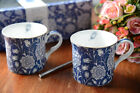 Set of 2 V A WILLIAM MORRIS Wild Tulip FINE BONE CHINA MUGS