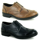 MENS ITALIAN DESIGNER INSPIRED OFFICE FORMAL WEDDING CASUAL BROGUES SHOES SIZE