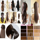 Uk Modern Clip In Pony Tail Ponytail Hair Extension Piece Wrap On PonyTail Ha8