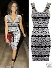 JESSICA WRIGHT INSPIRED FLORAL LACE MESH BODYCON PARTY SLEEVELESS DRESS