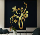 Butterfly And Flowers Wall Decor. Wall Sticker & Wall Decal. 60cm x 90cm