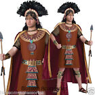 C905 Mayan King Native Indian Mens Wild West Warrior Halloween Costume Outfit