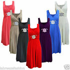LADIES WOMENS SHORT BUCKLE MAXI DRESS FORMAL EVENING PROM WEDDING PARTY COCKTAIL