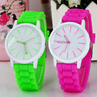 Fashion Womens Men's Silicone Rubber Jelly Gel Quartz Analog Sports Wrist Watch