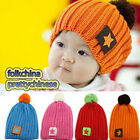 Baby Boys Girls Infants Crochet Handmade Beanie Winter Warmer Hat Cap With Star