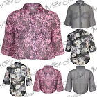 Ladies Chiffon Floral Printed High Low Womens Blouse Loose Fit Shirt Boxy Top