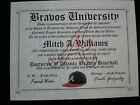 BRAVES FAN~ATLANTA BRAVES~CERTIFICATE ~DIPLOMA~ GIFT~ MAN CAVE ~ OFFICE ~ FAN on Ebay