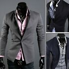 US Luxury New Mens Casual Slim Fit One Button Suit Blazer Coat Jackets Outwear 2