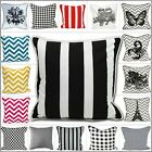 Stylish Cushion Cover 100% Cotton Decorative Reversible Cushion Cover 18x18""