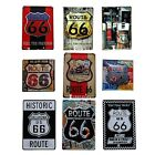 Vintage Roadway U.S ROUTE 66 Street Tin Plaque Metal Sign Wall Garage Decor