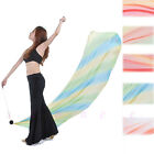 Professional Belly Dance Costume Gradient Silk Veil Poi 1 Veils + 1 Poi Chain