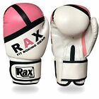 Ladies Pink Boxing Bag mitts MMA jab women fight training sparring gloves R A X