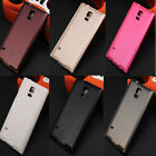 Window View Flip Folio PU Leather Case Cover For Samsung I9600 S5