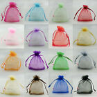 "50pcs 17x22cm Organza Wedding Favour Gift Bags Jewellery Pouches 7""x9"""