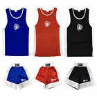 Kids Boxing Shorts & Top Set 2 Pieces High Quality Satin Fabric Thai Kick MMA