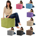 Gilda Soft & snugly cube ottoman foot rest pouffe Chair stool Extra Seat pouf