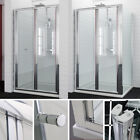Bifold Shower Enclosure Doors Cubicle Glass Screen Side Panel Stone Tray Waste