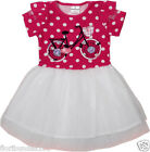 GIRLS PINK POLKA DOT DRESS WITH NET OVERLAY 18-24,2-3,3-4,4-5,5-6 YEARS