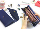 HIMORI With Alice Linda Post Wallet- Womens Clutch Long Wallet Button Flap Purse