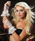 White Wrist Length Fingerless Lace Gloves STM-40112 Sexy Costume Party Dinner