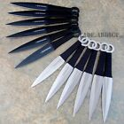 "12 Pc 6"" Ninja Tactical Combat Naruto Kunai Throwing Knife Set w Sheath Hunting"